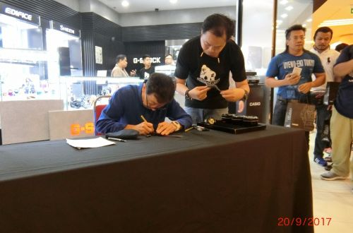 Ibe-san in G-SHOCK Store 1Utama!