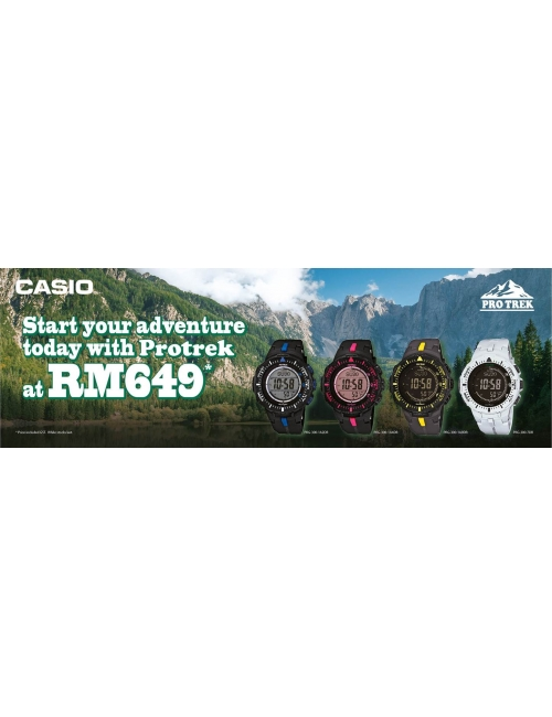 CASIO Timepiece -Pro Trek PRG-300 Promotion!  Purchase our PRG-300 series for a special price!  *While stocks last