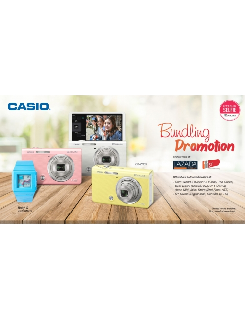 CASIO EXILIM CAMERA-Get your own BBG Watch (worth RM 419) when you purchase 1 unit of Casio EX-ZR65.